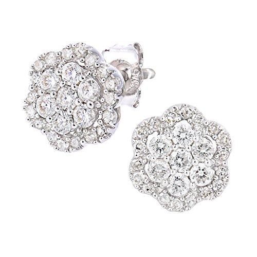 ec1eefc4a260 Naava Pendientes para Mujer de Oro Blanco 9K con Diamante 0.45 ct