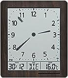 AMS 5893 Digital Wanduhr Funk Anzeige von Zeit Datum Temperatur Wecker Funkuhr