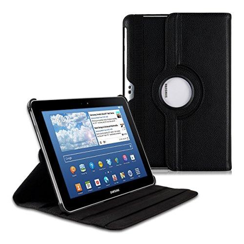 kwmobile Hülle 360° für Samsung Galaxy Tab 10.1/10.1N P7500/P7510/P7501/P7511 Case mit Ständer - Schutzhülle Tablet Tasche mit Standfunktion in Schwarz