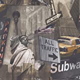 Liberty NYC - POB-002-02-5 - New York - Statue of Liberty - GranDeco - Wallpaper