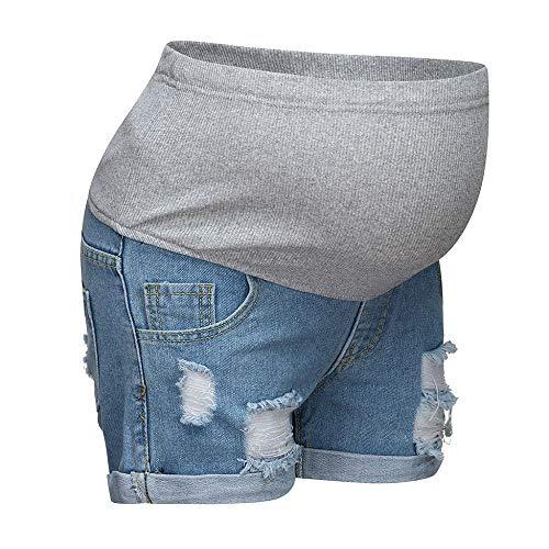 Damen Umstandsmode Schwangere Jeans Umstandsshorts Kurze Jeanshose Leggings Mutterschaft Shorts Skinny Umstandsjeans Destroyed Umstandshose Elastische Schwangerschafts Umstandsleggings