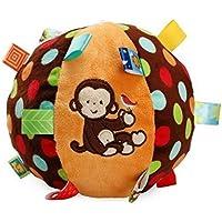 Preisvergleich für Baby-lustiges Spielzeug Baby Schöne Affe Weiche Hand Rasseln Glocke Kinder Baby Funnny Crawlen Bell Ball Spielzeug Geschenk
