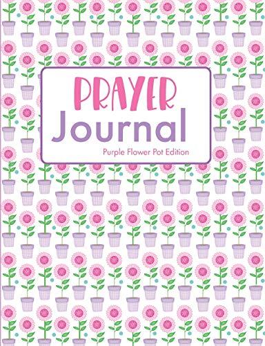 Prayer Journal Purple Flower Pot Edition: Guided Sermon Notebook Aqua Flower Pot