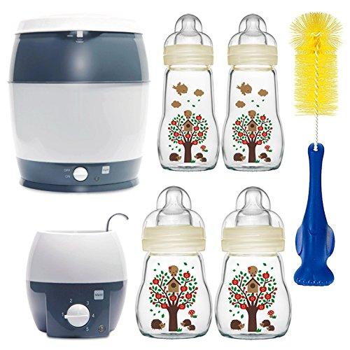 MAM Premium Set mit Glasflaschen Ivory Starterset für Neugeborene Starter Flaschenset