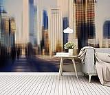 HONGYUANZHANG Einfache Abstrakte Stadtarchitektur Tapete Des Foto-3D Künstlerische Landschafts-Fernsehhintergrund-Tapete,104Inch (H) X 136Inch (W)