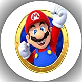 Fondant Tortenaufleger Tortenbild Geburtstag Super Mario N4