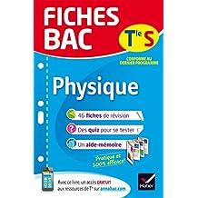 Fiches bac Physique Tle S (enseignement spécifique): fiches de révision Terminale S