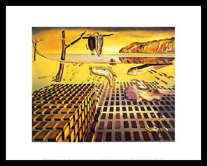 or Dali The Disintegration of The Persistence of Memory, 1954 Poster Bild Kunstdruck im Alu Rahmen in schwarz 28x36cm ()