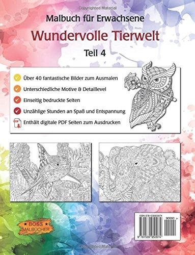 Wundervolle Tierwelt: Malbuch für Erwachsene (Ausmalen & Entspannen ...