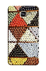 Omnam Pattern Made Of Threads Printed Designer Back Cover Case For Samsung Galaxy A7 (2016)