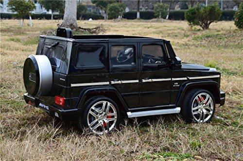 Mercedes Benz G63 AMG / Kinderauto / Bluetooth FB / Hartgummi Reifen / USB / Radio / Farbe schwarz