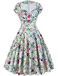 Belle Poque Vintage Retro Kleid 50er Festliche Kleid Partykleid Sommerkleid ZYB000001