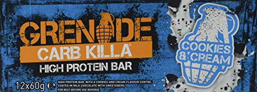 Grenade Carb Killa High Protein e Low Carb Bar 12 x 60 g Biscotti e crema