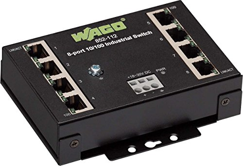 Wago 8-Port Industrial Eco Switch, 852-112