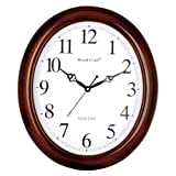 WOOD CRAFT ws-1107c sweep wall clock (da...