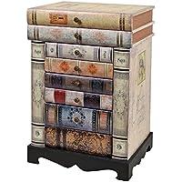 ts-ideen estantería cómoda librero estilo de vintage antiguo libros rustico con cajones