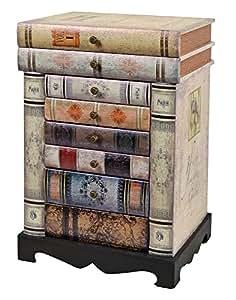 ts-ideen Design Kommode Bücherregal Schrank im Vintage
