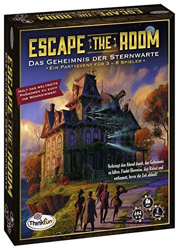 Think Fun Escape The Room Niños y Adultos Party Board Game - Juego de Tablero (Party Board Game, Niños y Adultos, 90 min, Niño/niña, 10 año(s), Interior)