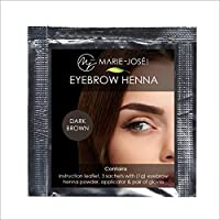 Henna para cejas - Henna Brows - 5 colores - Suficiente para 12 aplicaciones (Marrón scuro)