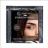 Henna Augenbrauenfarbe| Full-Brow-Effekt, auch die Haut wird gefärbt | Henna Brow | Marie-José & Co (Dunkelbraun)