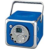 Jensen CD-555 Blue CD Bluetooth Boombox Portable Bluetooth Music System With CD Player +CD-R/RW & FM Radio With Aux-in & Headphone Jack Line-In - Limited Edition- Blue