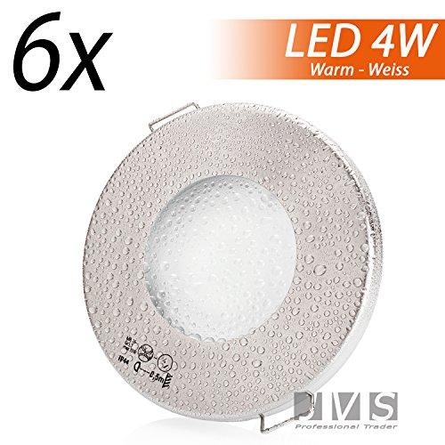 set-di-faretti-aqua-slim-finitura-opaca-cromata-230-v-incl-led-da-4-w-luce-bianca-calda-con-attacco-