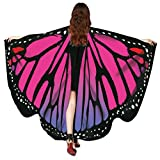 Echarpes en châle femme, KEERADS Women Butterfly Wings Shawl Foulards Ladies Nymph Pixie Poncho Costume Accessory (C)