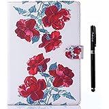 inShang iPad air Fundas soporte y carcasa para Apple iPad air 1st iPad 5 (2013 release), cubierta elegante, smart cover PU Funda + clase alta 2 in 1 inShang marca negocio Stylus pluma