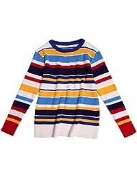 SGHTRHXUT suéter suéter Alto elástico suéter de la Raya de la Camiseta de Gran código Femenino, Raya Gran Manga roja, código Uniforme