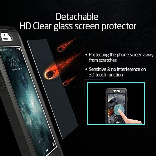 iPhone 6 / 6S Hülle (4,7 Zoll), ESR® Ninja Series Hybrid Schutzhülle mit Abnehmbaren Robuste Frontabdeckung Rahmen & Glas Schutzfolie für iPhone 6/6S (Racer Gold) Racer_Gold