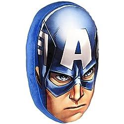 Cerdá Capitán América - Cojín terciopelo, 34 x 25 x 15 cm, color azul