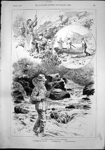 MeerForellen-Fischen Loch Stamadale-TagLoch-Ändernde Fliegen 1892