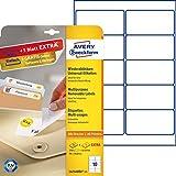 Avery Zweckform L4744REV-25 Etiketten (A4, 250 Plus 50 Universal-Etiketten extra, ablösbar, 96 x 50,8 mm) 30 Blatt, weiß