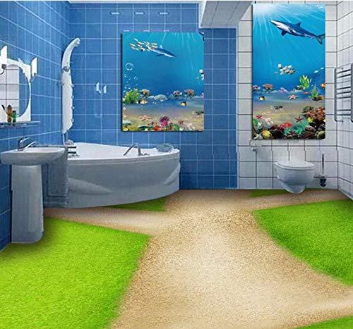 Wandbilder 3D Stereo Boden Badezimmer Wc Gras Boden Benutzerdefinierte Korridor Lobby Schlafzimmer Studio Tapete Wandbild-280X200Cm,wallpaper