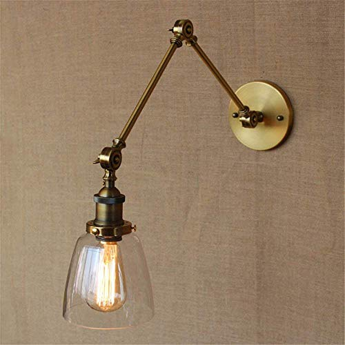 Unten Arm Kronleuchter (MYJ Moderne minimalistische Innenwand-Licht-Befestigung, amerikanisches Schmiedeeisen-Weinlese-Hade mit Goldwand-Arm unten, Hintergrund-Wand-Beleuchtung)