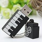BESTRUNNER USB Stick 16GB USB-Flash-Laufwerk USB 2.0 Memory Stick Klavier-Form Geschenk für Vatertag, Muttertag und Kindertag