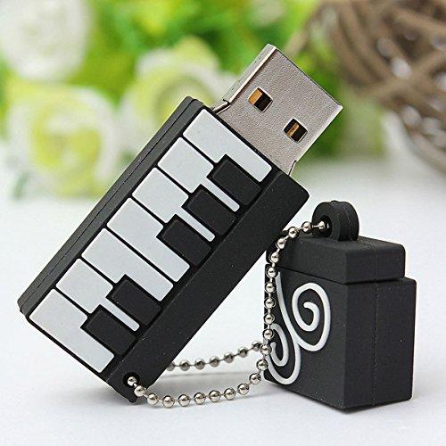 BESTRUNNER USB Stick 16GB USB-Flash-Laufwerk USB 2.0 Memory Stick Klavier-Form Geschenk für Kinder