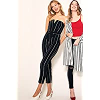 Tally Weijl Straight Jumpsuit for Women - Black & White M