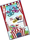 #6: Party Stuff Carnival Theme Tambola Housie Tickets - Fun Time Carnival kukuba 1 - Designer Kukuba (16 Cards)   Kitty Games
