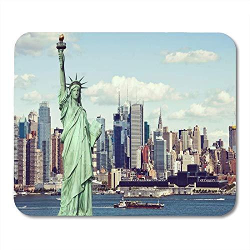 Luancrop Mauspads Weinlese tonte Effekt-Filter von der New- Yorkskyline-Stadt-Mausunterlage für Notizbücher, Tischrechnermatten Bürozubehöre