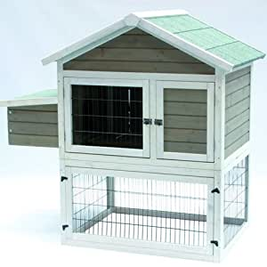 Woodland-603425AM-Clapier combi pack enclos cage à lapin