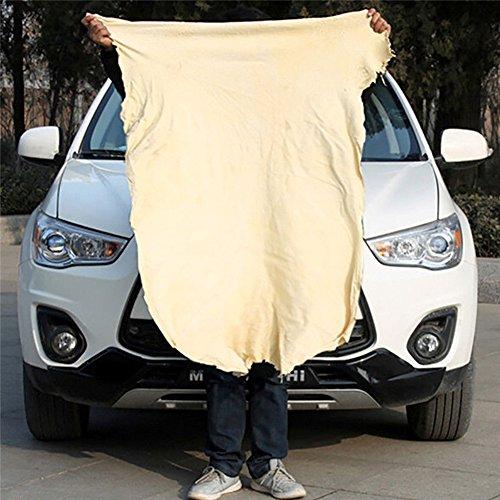 Natur Chamois Leder Auto Reinigungstuch Waschen Wildleder saugfähig Quick Dry Handtuch