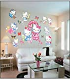 Hallo Kitty Wandsticker Hello Kitty Wanddekoration Kinder Wandbild Aufkleber
