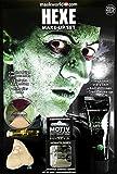 Maskworld Make-up Set Hexe - Halloween Schminke Komplett-Set mit Kontaktlinsen