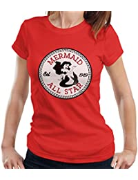 a551ef4a2b49 Little Mermaid Ariel All Star Converse Logo Women s T-Shirt