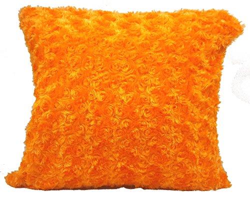 Überwurf Home Blume Dekoration Fell Flauschig Sofa weiches Plüsch Luxus Kissen Cover Orange (Orange Fell)