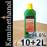 12 x 1 L Flaschen Bioethanol 96