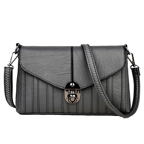 Frau Fashion Casual Schultertasche Messenger Bag Diagonal Paket Grey