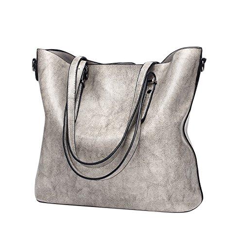 ❤HappyQn❤ Damen Vintage Tote Beutel Schultertasche Handtasche Mode Handtasche Messenger Bag