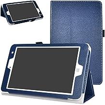 "Chuwi Hi8 Pro / Hi8 / Vi8 Plus Funda,Mama Mouth Slim PU Cuero Con Soporte Funda Caso Case para 8"" Chuwi Hi8 Pro / Hi8 / Vi8 Plus Windows 10 & Android 5.1 Dual sistemas Tablet PC,Azul oscuro"